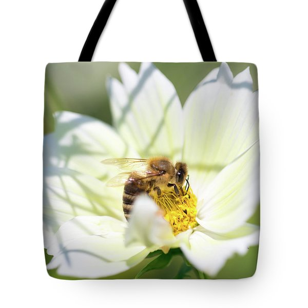 Tote Bag featuring the photograph Shadowy Bee by Brian Hale