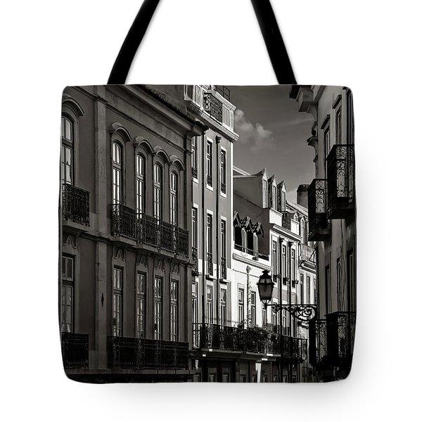 Shadowy Old Lisbon Tote Bag