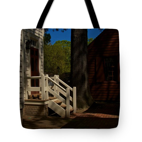 Shadowy Steps Tote Bag