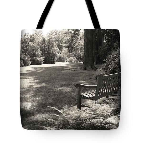Shady Bench Tote Bag