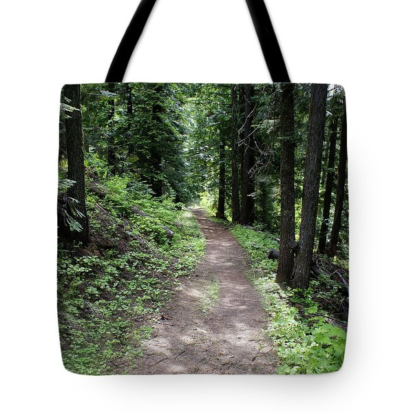 Tote Bag featuring the photograph Shady Grove Path by Ben Upham III