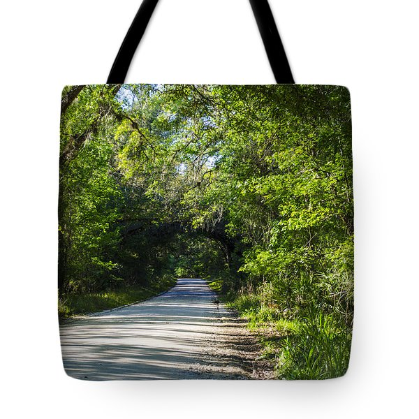 Shady Lane In Ocklawaha Tote Bag