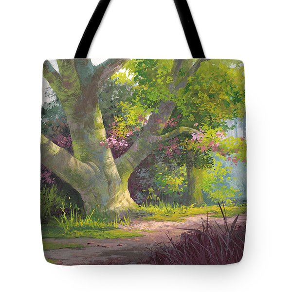 Shady Oasis Tote Bag by Michael Humphries