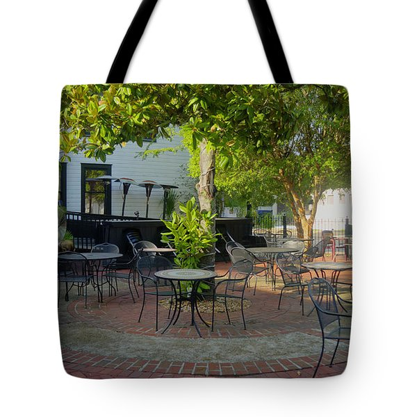 Shady Outdoor Dining Tote Bag