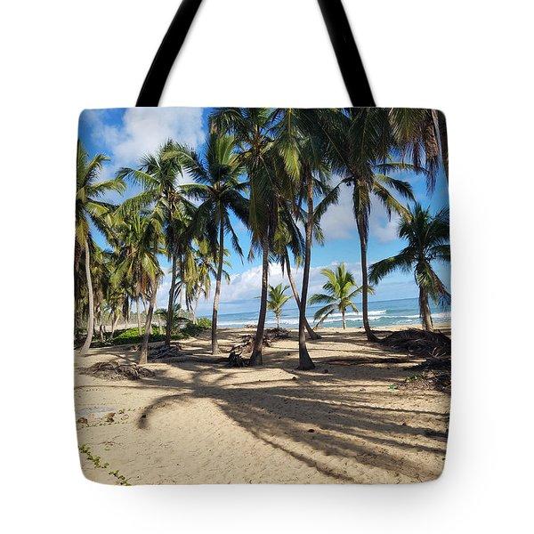 Shady Palm Tote Bag