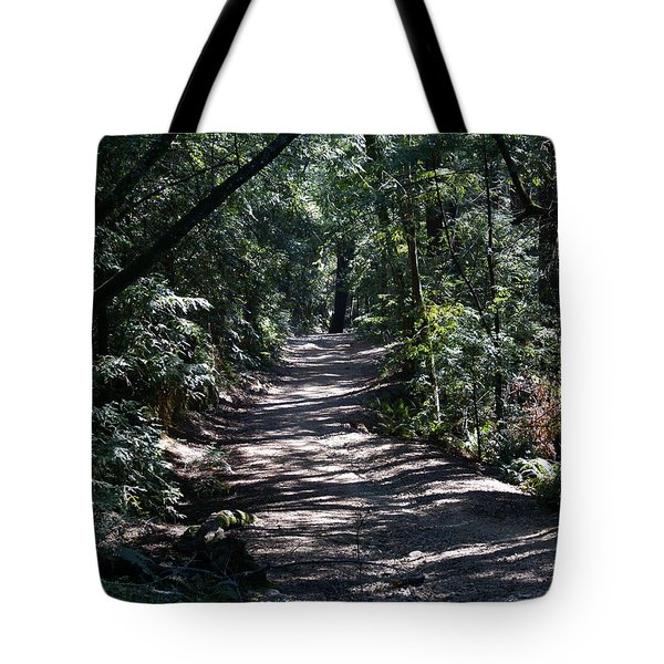 Shady Road On Mt Tamalpais Tote Bag