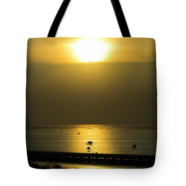 Shaft Of Gold Tote Bag
