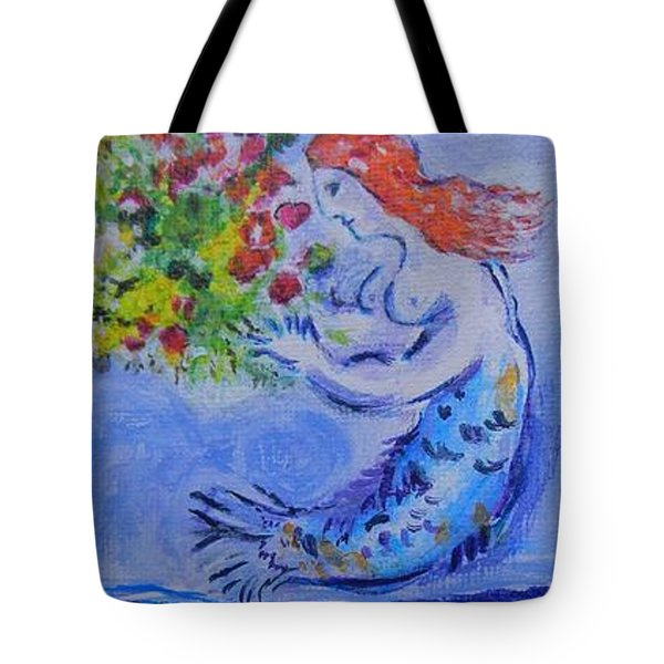 Chagall's Mermaid Tote Bag by Diana Bursztein