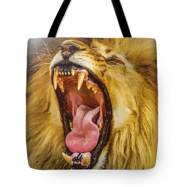 Stay Away From My Teeth Tote Bag