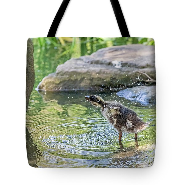 Tote Bag featuring the photograph Shake It Off by Kate Brown