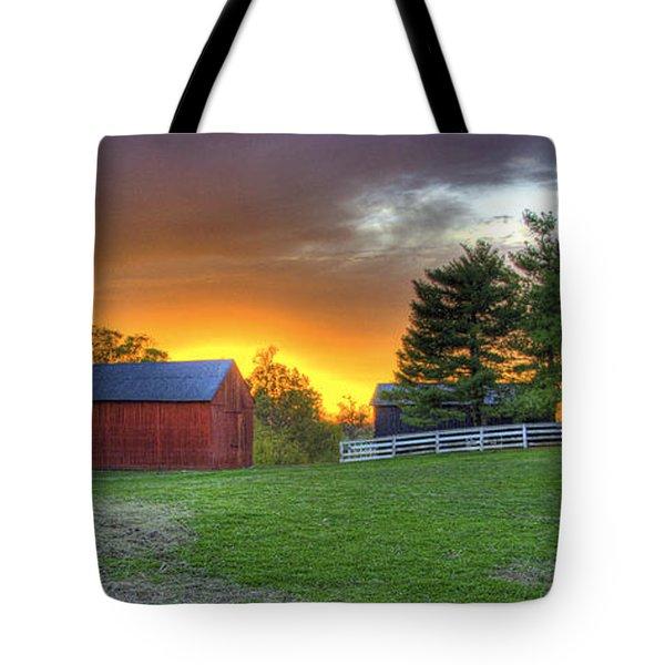 Shaker Animals At Sunset Tote Bag