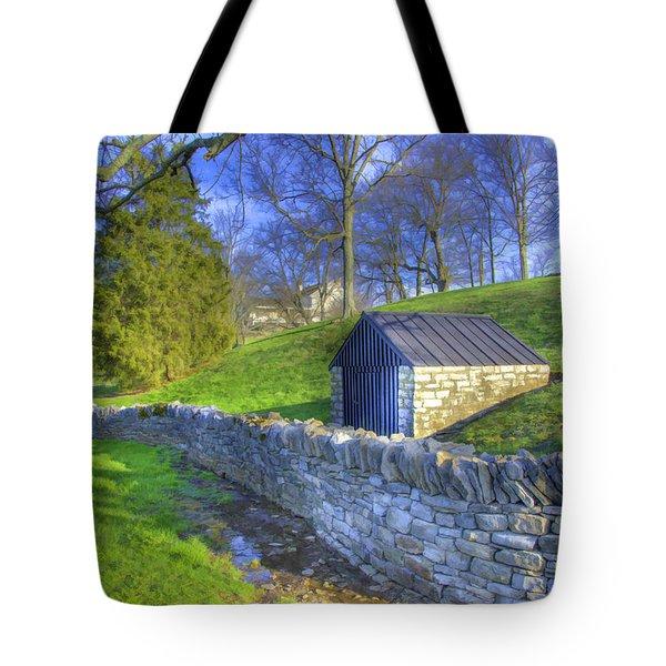 Shaker Stone Wall 6 Tote Bag