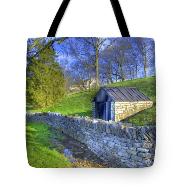 Shaker Stone Wall 6 Tote Bag