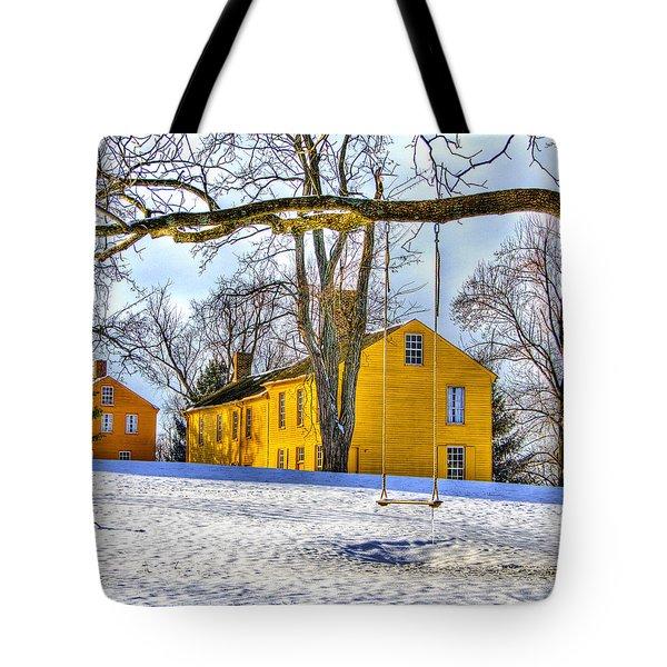 Shaker Swing In Winter 2 Tote Bag