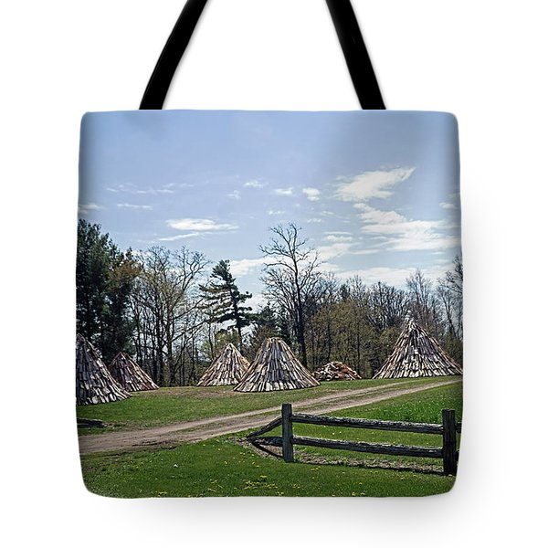 Shaker Teepees? Tote Bag by Judy Johnson