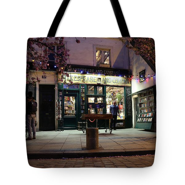 Tote Bag featuring the photograph Shakespeare Book Shop 1 by Andrew Fare