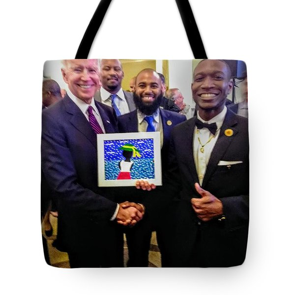 Shaking Hands With The President Tote Bag