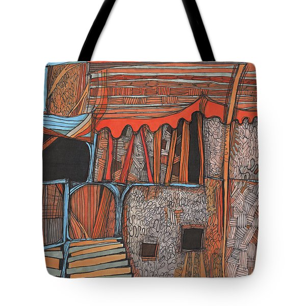 Shaky Place Tote Bag by Sandra Church