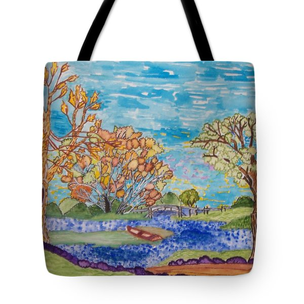 Tote Bag featuring the painting Shall We Go For A Summer Walk by Connie Valasco
