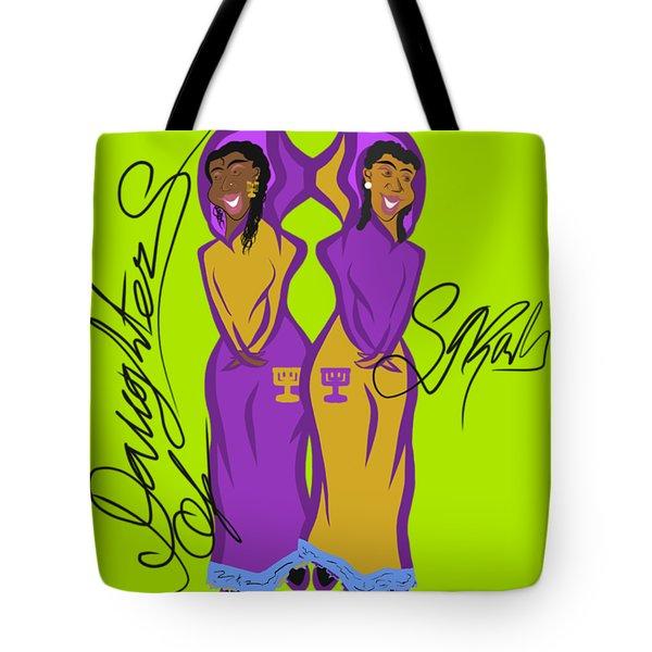 Shalom Sistas Tote Bag