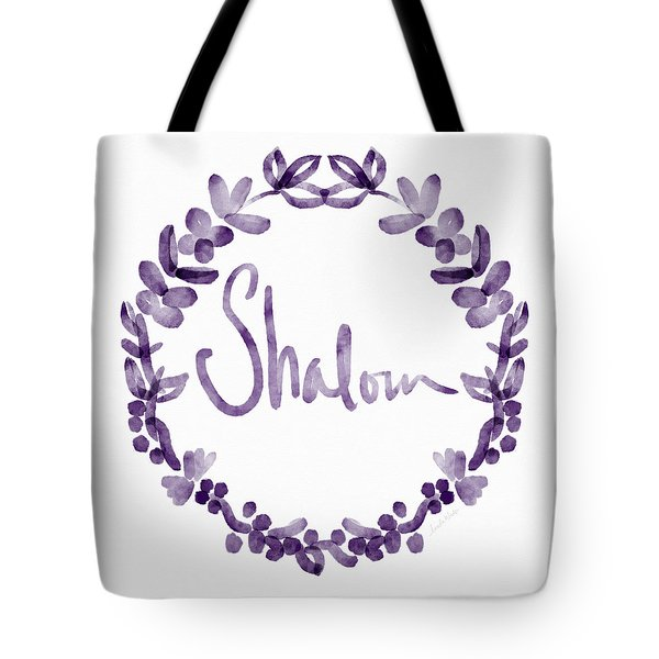 Shalom Wreath- Art By Linda Woods Tote Bag