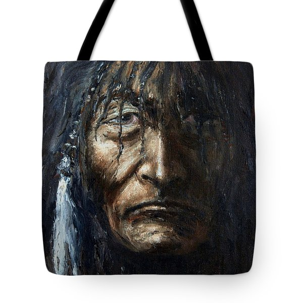 Tote Bag featuring the painting Shaman by Arturas Slapsys