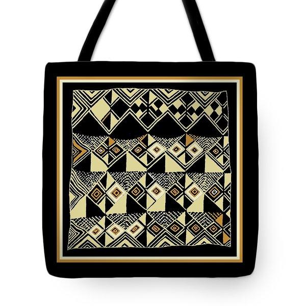 Tote Bag featuring the digital art Shaman Tribal Kuba by Vagabond Folk Art - Virginia Vivier