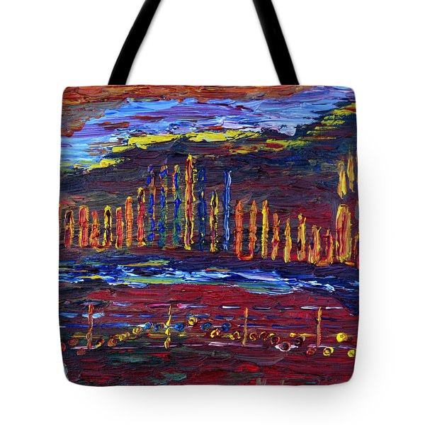 Tote Bag featuring the painting Shanah Tovah by Vadim Levin