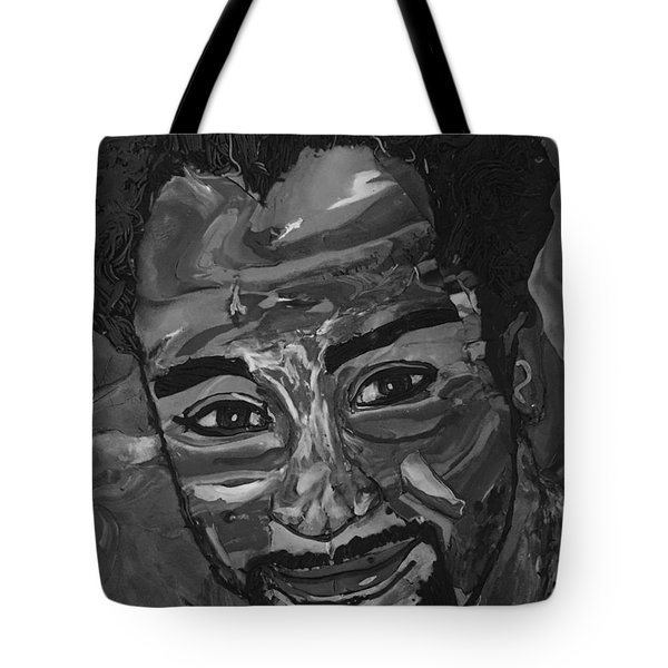 Shane In Black And White Tote Bag
