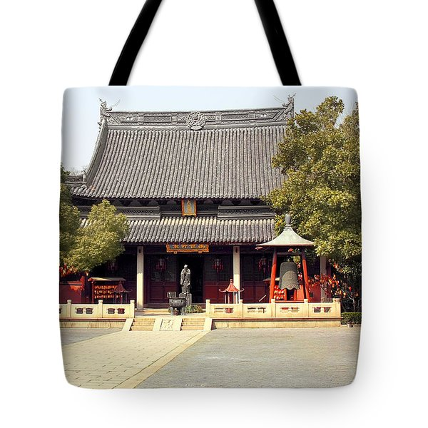 Shanghai Confucius Temple - Wen Miao - Main Temple Building Tote Bag by Christine Till