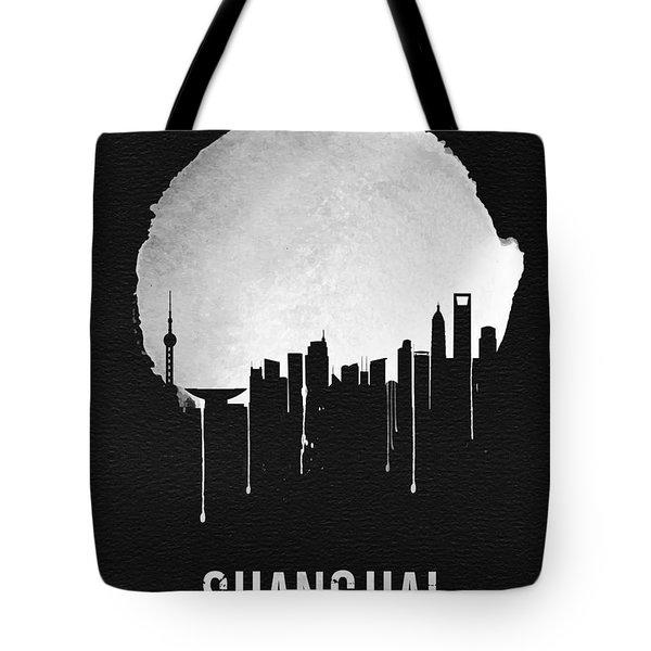 Shanghai Skyline Black Tote Bag