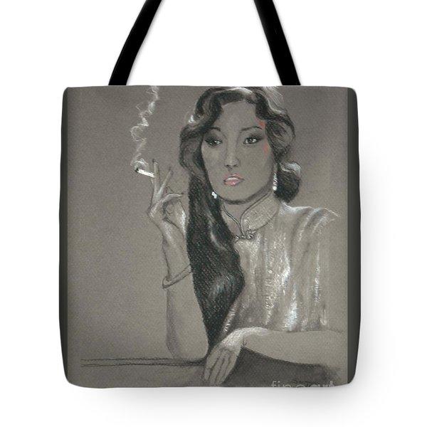 Shanghai Triad -- Portrait Of Chinese Film Star Tote Bag