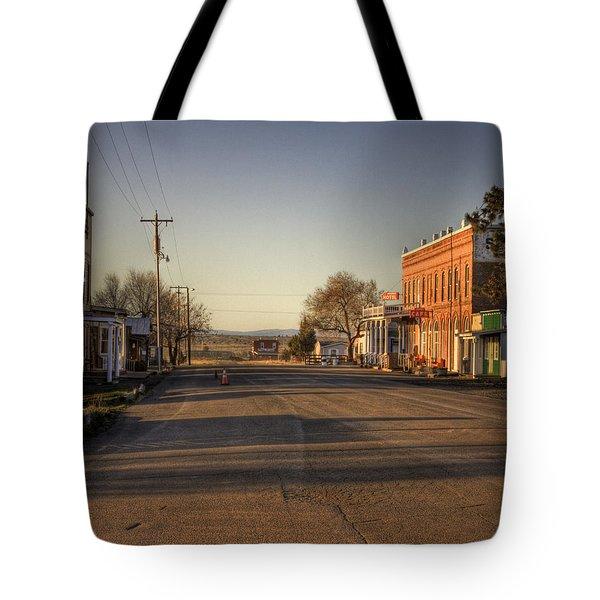 Shaniko Oregon  Tote Bag by Lee  Santa
