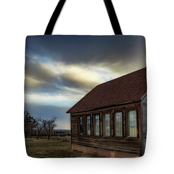 Tote Bag featuring the photograph Shaniko Schoolhouse by Cat Connor