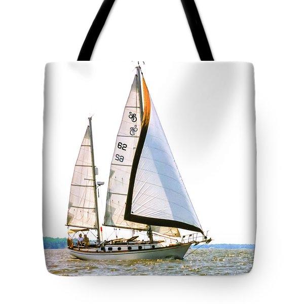 Shannon 38 Kittiwake On Chesapeake Bay Tote Bag