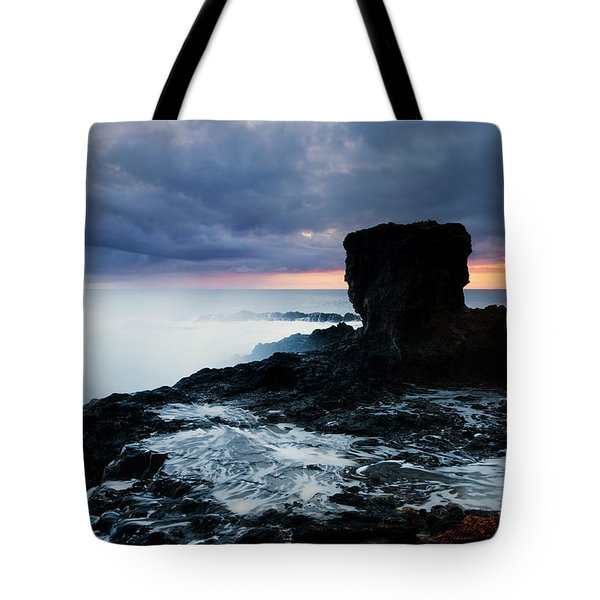 Shaped By The Waves Tote Bag by Mike  Dawson