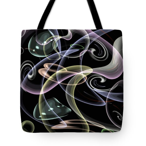 Shapes Of Fluidity Tote Bag by Kaye Menner