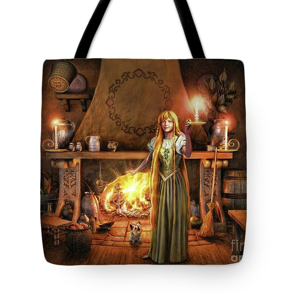Share My Fire And Candle Light Tote Bag by Dave Luebbert