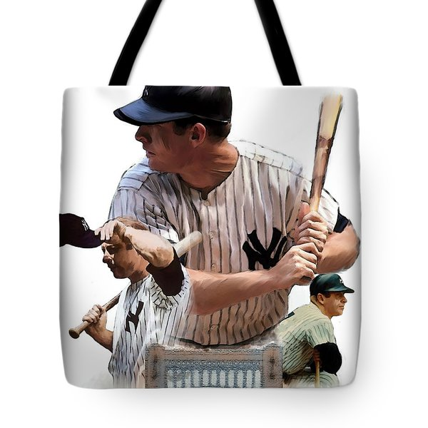 Shared Legacy Mickey Mantle Tote Bag by Iconic Images Art Gallery David Pucciarelli
