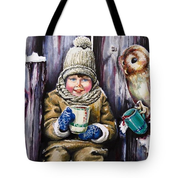 Sharing A Hot Chocolate Tote Bag