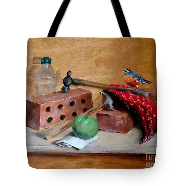 Sharing Lunch Break Tote Bag