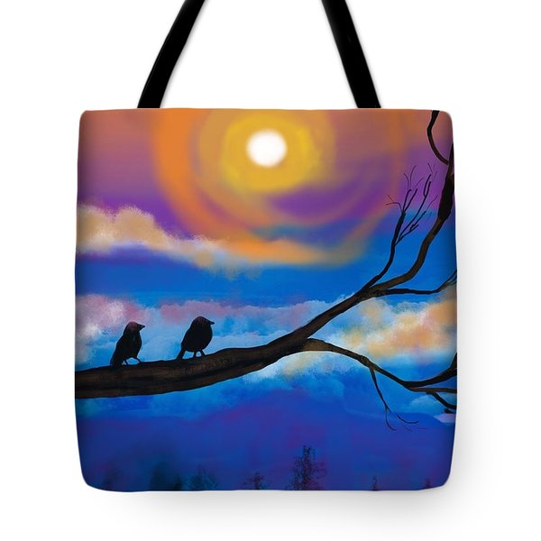 Sharing The Sunset-2 Tote Bag