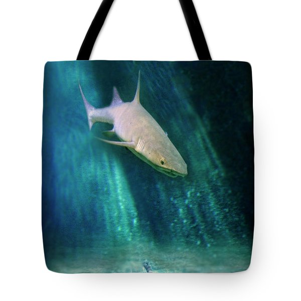 Shark And Anchor Tote Bag by Jill Battaglia