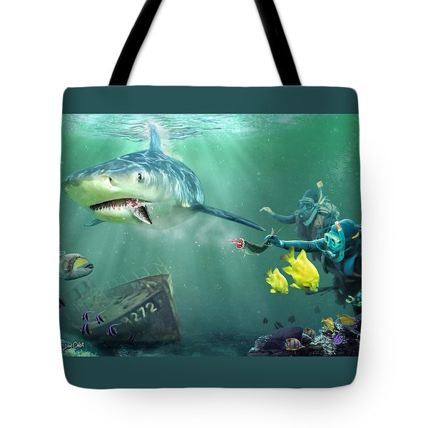 Tote Bag featuring the photograph Shark Bait by Don Olea