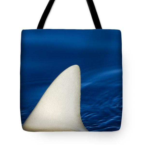 Shark Fin And Blue Tote Bag