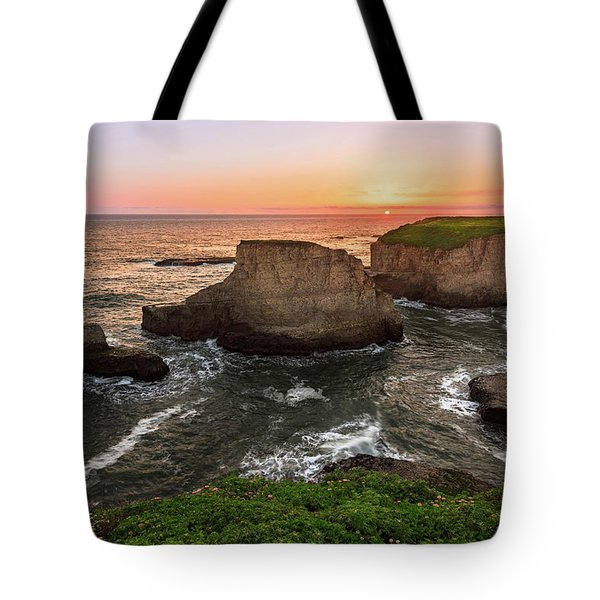 Tote Bag featuring the photograph Shark Fin Cove Sunset by John Hight