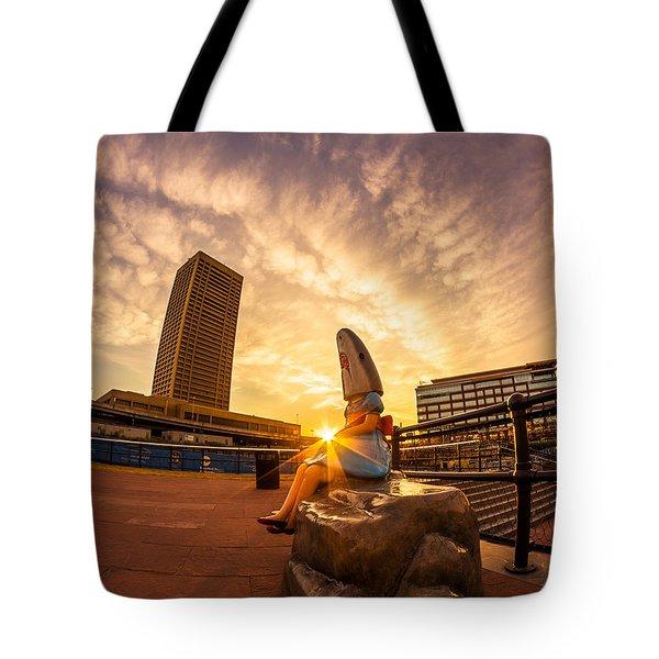 Shark Girl Dawn Tote Bag