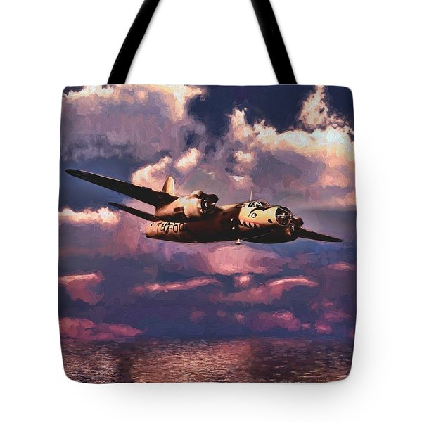 Shark On The Prowl Tote Bag by Dave Luebbert