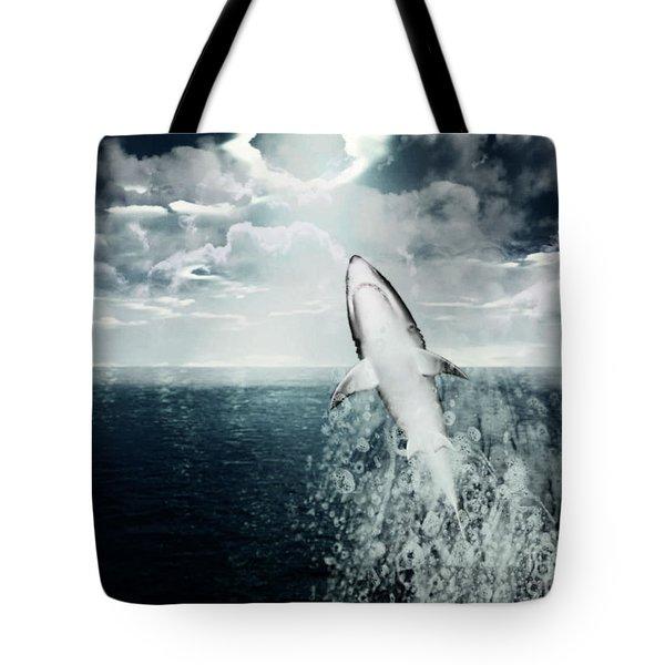 Shark Watch Tote Bag