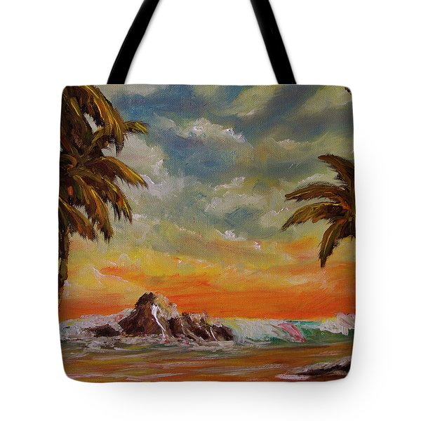 Sharks Cove North Shore Oahu #394 Tote Bag by Donald k Hall